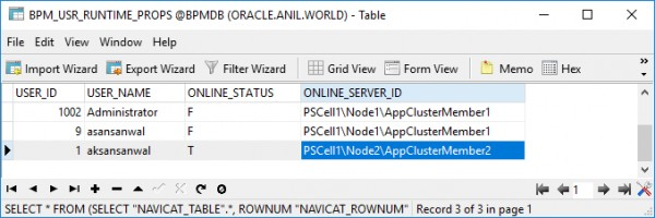 How can we tell which user is logged on to which Node when they